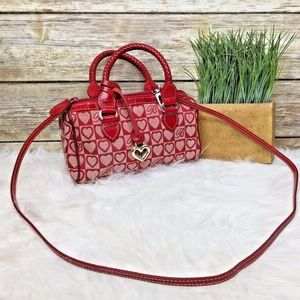 Brighton Heart Signature Red Leather Trim Mini Bag